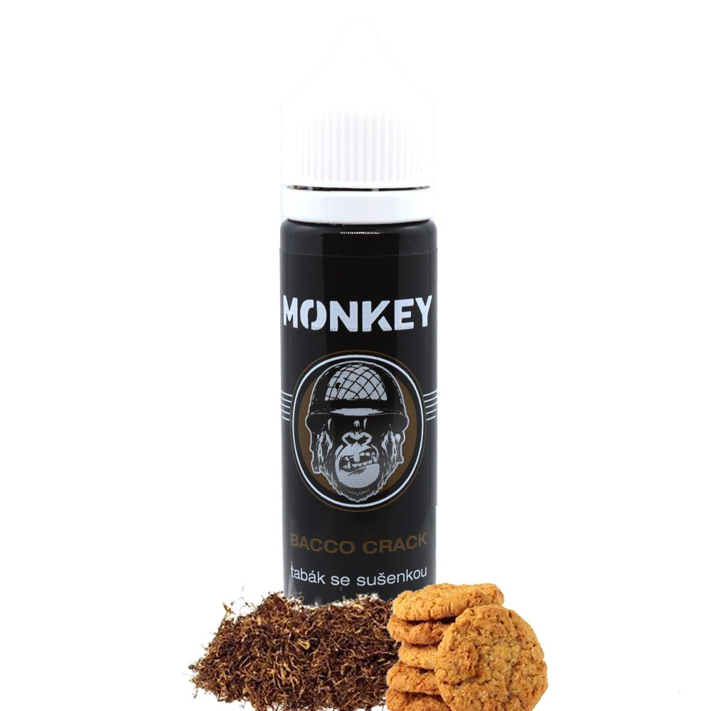 BACCO CRACK - Tabák se sušenkou - Monkey shake&vape 12ml Monkey liquid s.r.o.