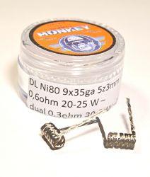 Braid spirálky DL NI80 9x35GA 0,6 ohm - 2ks/balení